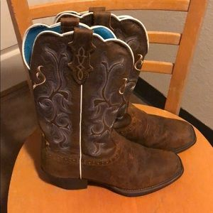 Justin Cowboy Boots. Women's 6.5. Never worn.